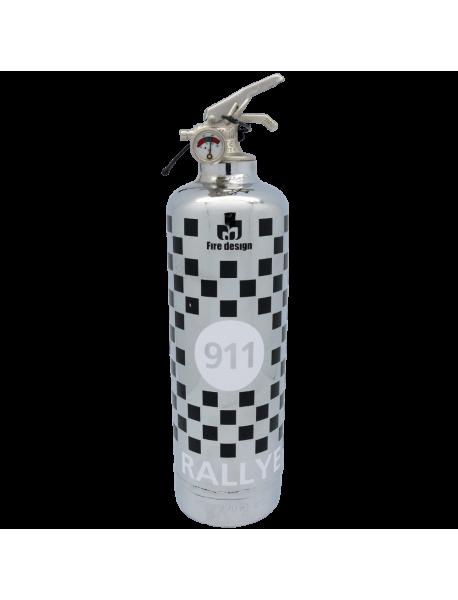 Car fire extinguisher 911 Rallye chrome black