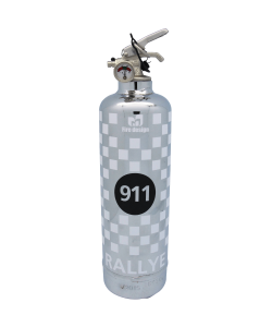 Car fire extinguisher 911 Rallye chrome white