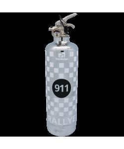 Extincteur voiture 911 Rallye chrome blanc