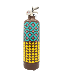 Fire extinguisher design Paperwall brown