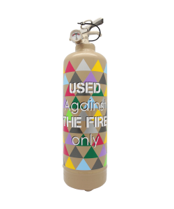 Fire extinguisher design Used light brown