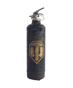Fire extinguisher vintage World of Tanks Logo design gold