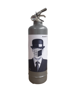 Fire extinguisher design Rubiks Man