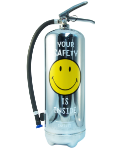 Estintore design LOFT SMILEY Safety Cromo