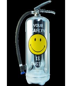Extincteur design 6kg LOFT SMILEY Safety Chrome