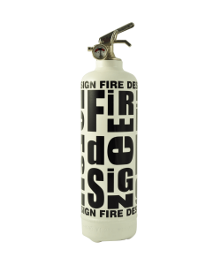 Extinguisher Fire design white black