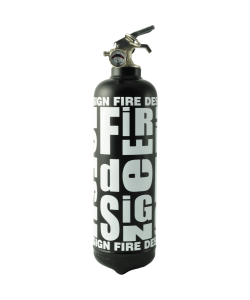 Extinguisher Fire design black white