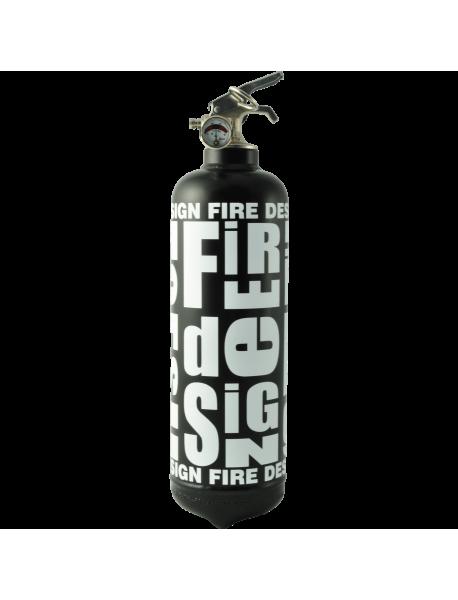 Extincteur Fire design noir blanc