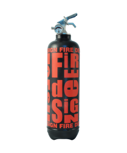 Extinguisher Fire design black red