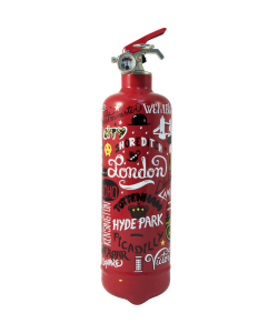 Extincteur design AKLH London G1 rouge