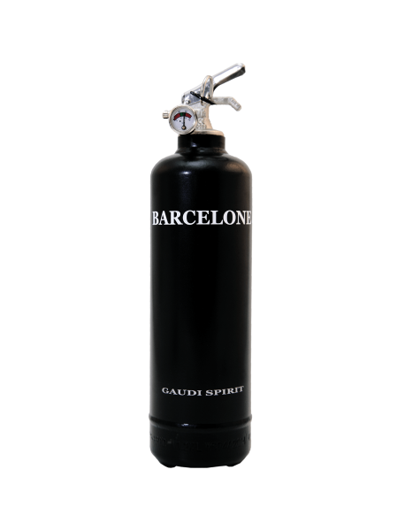Estintore design Spirit Barcelona nero