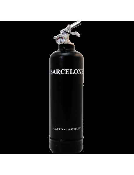 Extincteur déco Spirit Barcelone noir