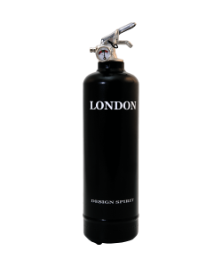 Fire extinguisher design Spirit London black