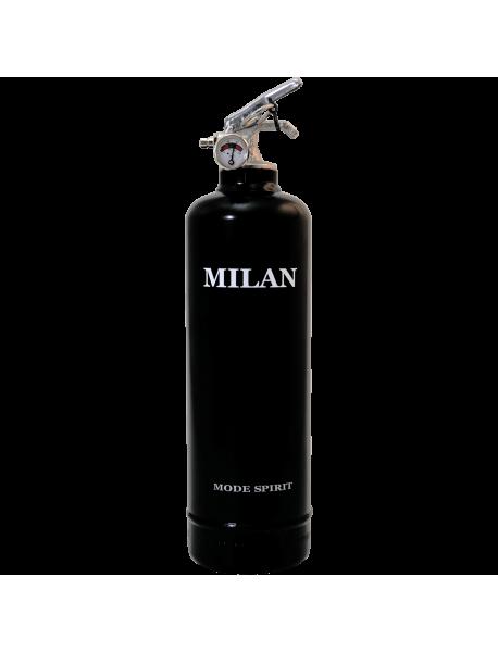 Extincteur déco Spirit Milan noir