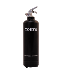 Estintore design Spirit Tokyo nero