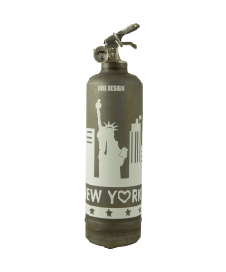 Fire extinguisher vintage States raw white