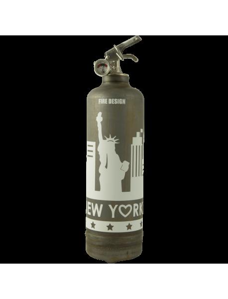 Fire extinguisher vintage States raw white