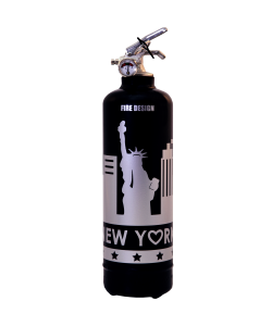 Fire extinguisher design States black silver