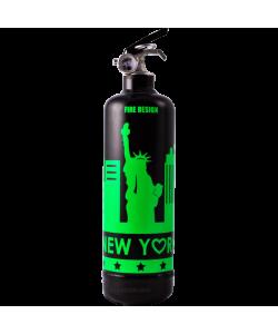 Estintore design States nero fluo verde