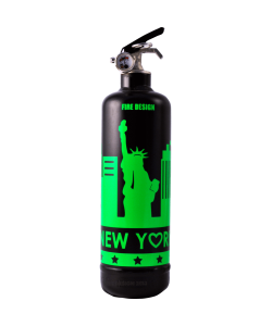 Fire extinguisher design States black flashy green