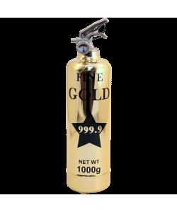 Extincteur design Luxe Fine Gold