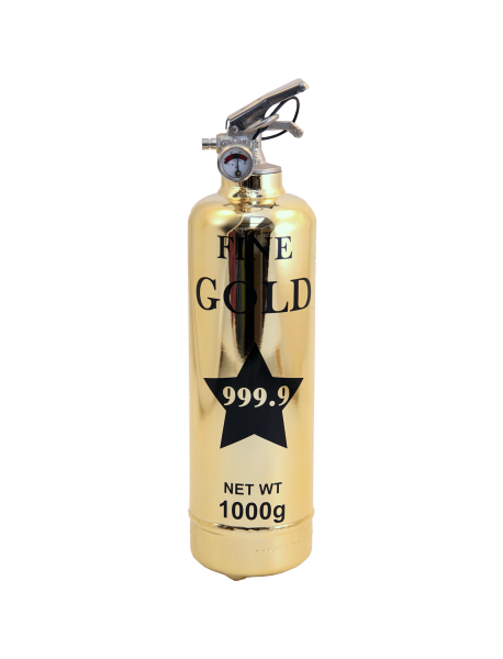 Fire extinguisher design Luxury Fine gold