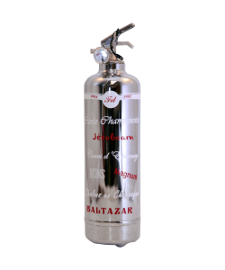 Fire extinguisher design Luxury Cuvée Champenoise Chrome