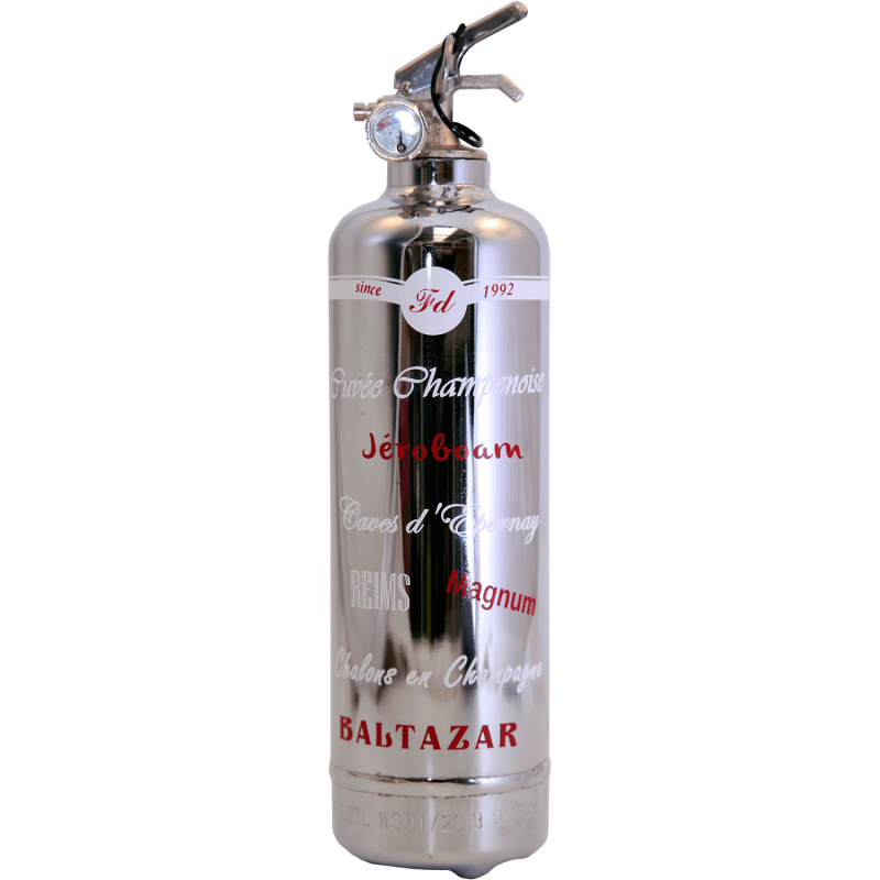 Fire extinguisher design Luxury Cuve Champenoise chrome ...