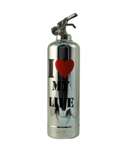 Fire extinguisher design Luxury My Life chrome