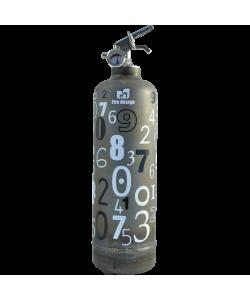 Extincteur vintage Alphanumérique