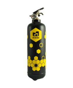 Fire extinguisher design Alvéoles black