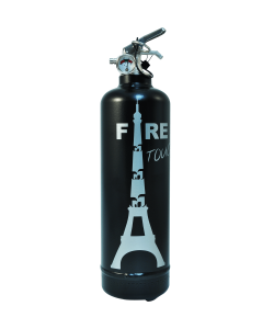 Fire extinguisher design Touch black silver