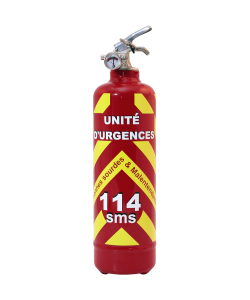 Fire extinguisher emergency 114 red