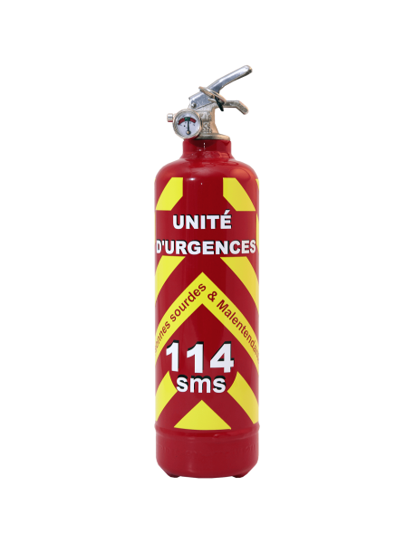 Estintore emergenze 114 rosso