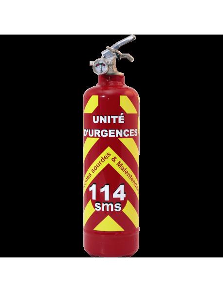 Extincteur urgences 114 rouge
