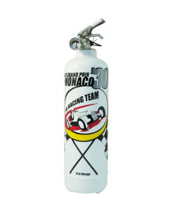 Car fire extinguisher Racing Team white