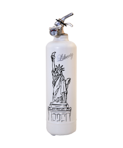Fire extinguisher design Liberty white