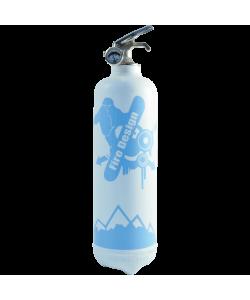 Estintore design Snowboard bianco