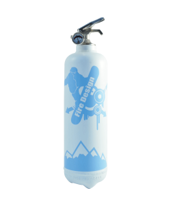 Fire extinguisher design Snowboard white