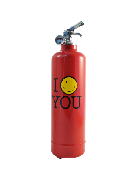 Fire extinguisher design Smiley Love red