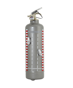 Fire extinguisher design auto race grey
