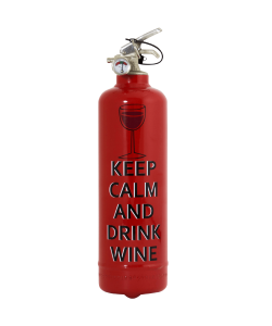 Fire extinguisher design Keep Calm Wine
