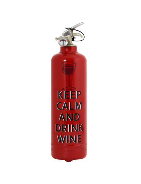 Extincteur cuisine Keep Calm wine