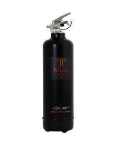 Fire extinguisher design Pieracci Rosé brut