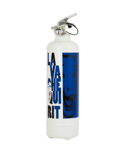 Fire extinguisher design Laughing Cow Classic white blue