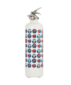 Fire extinguisher design Laughing Cow Full Label