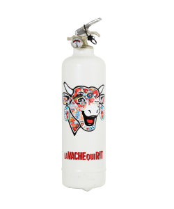 Fire extinguisher design Laughing Cow Classic Retro white