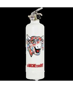 Fire extinguisher design Laughing Cow Classic Retro white