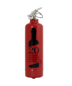 Fire extinguisher design Beaujolais 20 ans