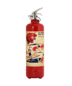 Fire extinguisher design Laughing Cow amie enfant